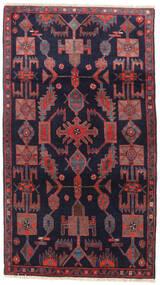 Nahavand Tapis 108X188 D'orient Fait Main Violet Foncé/Rouge Foncé (Laine, Perse/Iran)