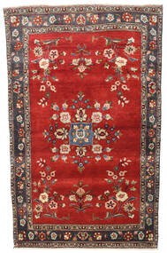 Hamadan Rug 113X180 Authentic  Oriental Handknotted Dark Red/Rust Red (Wool, Persia/Iran)