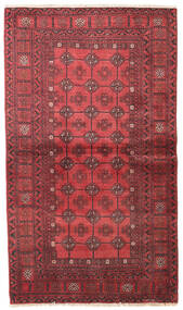 Turkmeński Dywan 93X160 Orientalny Tkany Ręcznie Ciemnoczerwony/Ciemnobrązowy (Wełna, Persja/Iran)