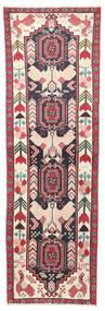 Heriz Teppe 65X208 Ekte Orientalsk Håndknyttet Teppeløpere Mørk Grå/Beige (Ull, Persia/Iran)