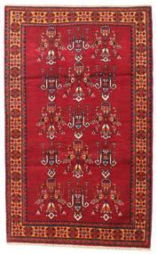 Beluch Matta 108X170 Äkta Orientalisk Handknuten Mörkröd/Röd (Ull, Persien/Iran)