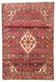Hosseinabad Vloerkleed 110X165 Echt Oosters Handgeknoopt Donkerbruin/Donkerrood (Wol, Perzië/Iran)