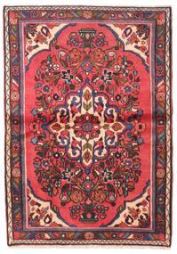 Hamadan Rug 97X140 Authentic  Oriental Handknotted Dark Brown/Dark Red (Wool, Persia/Iran)