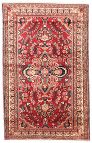 Lillian Vloerkleed 105X168 Echt Oosters Handgeknoopt Donkerrood/Beige (Wol, Perzië/Iran)