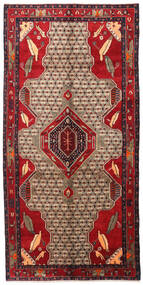 Songhor Rug 152X305 Authentic  Oriental Handknotted Hallway Runner  Dark Red/Dark Brown (Wool, Persia/Iran)