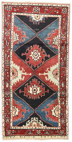 Hamadan Rug 100X200 Authentic  Oriental Handknotted Beige/Dark Blue (Wool, Persia/Iran)
