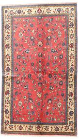 Sarough Matta 130X220 Äkta Orientalisk Handknuten Mörkgrå/Röd (Ull, Persien/Iran)