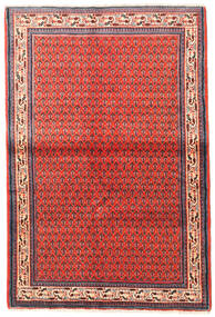 Sarouk Mir Rug 105X155 Authentic  Oriental Handknotted Rust Red/Crimson Red (Wool, Persia/Iran)
