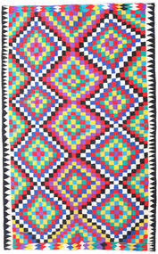 Kilim Fars Rug 200X315 Authentic Oriental Handwoven Beige/Pink (Wool, Persia/Iran)