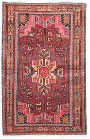 Nahavand Teppe 80X125 Ekte Orientalsk Håndknyttet Mørk Rød/Rust (Ull, Persia/Iran)