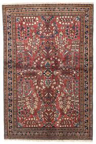 Lillian Rug 100X155 Authentic  Oriental Handknotted Dark Red/Dark Brown (Wool, Persia/Iran)