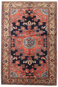 Hamadan Rug 135X200 Authentic  Oriental Handknotted Dark Red/Dark Brown (Wool, Persia/Iran)