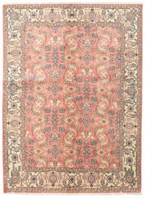 Ardabil Dywan 145X193 Orientalny Tkany Ręcznie Ciemnobeżowy/Brązowy (Wełna, Persja/Iran)