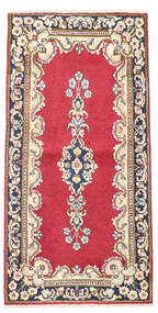 Kerman Rug 60X118 Authentic  Oriental Handknotted Light Pink/Dark Grey (Wool, Persia/Iran)
