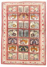 Bakhtiari Rug 110X155 Authentic Oriental Handknotted Beige/Light Brown (Wool, Persia/Iran)