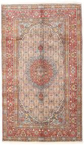 Moud Dywan 148X255 Orientalny Tkany Ręcznie Beżowy/Jasnoszary/Jasnobrązowy (Wełna/Jedwab, Persja/Iran)