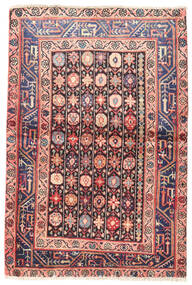 Wiss Rug 100X150 Authentic  Oriental Handknotted Dark Purple/Light Pink (Wool, Persia/Iran)