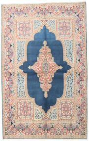 Kerman Rug 147X230 Authentic  Oriental Handknotted Blue/Beige (Wool, Persia/Iran)