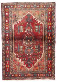 Nahavand Koberec 90X130 Orientální Ručně Tkaný Tmavě Červená/Tmavě Hnědá (Vlna, Persie/Írán)
