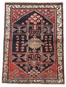 Saveh Dywan 105X140 Orientalny Tkany Ręcznie Ciemnoczerwony/Ciemnoniebieski (Wełna, Persja/Iran)