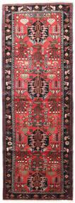 Saveh Matto 110X305 Itämainen Käsinsolmittu Käytävämatto Tummanpunainen/Tummanruskea (Villa, Persia/Iran)