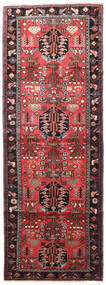 Saveh Rug 110X305 Authentic  Oriental Handknotted Hallway Runner  Dark Red/Dark Brown (Wool, Persia/Iran)