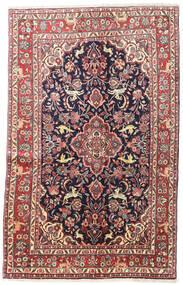 Hamadan Shahrbaf Dywan 130X208 Orientalny Tkany Ręcznie Ciemnoszary/Beżowy (Wełna, Persja/Iran)