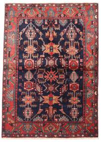 Wiss Vloerkleed 113X155 Echt Oosters Handgeknoopt Donkerpaars/Zwart (Wol, Perzië/Iran)