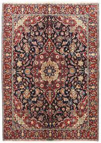Mashhad Covor 142X202 Orientale Lucrat Manual Roșu-Închis/Negru (Lână, Persia/Iran)