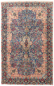 Kerman Patina Rug 150X243 Authentic  Oriental Handknotted Dark Grey (Wool, Persia/Iran)