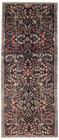 Lillian Rug 124X300 Authentic Oriental Handknotted Hallway Runner Black/Dark Brown (Wool, Persia/Iran)