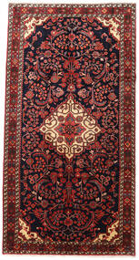 Jozan Rug 170X325 Authentic  Oriental Handknotted Dark Red/Dark Brown (Wool, Persia/Iran)