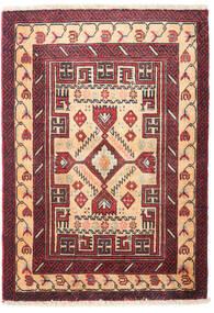 Beluch Matta 68X95 Äkta Orientalisk Handknuten Beige/Mörklila (Ull, Persien/Iran)