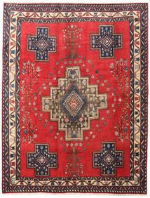 Afshar/Sirjan Matto 190X243 Itämainen Käsinsolmittu Punainen/Tummanharmaa (Villa, Persia/Iran)