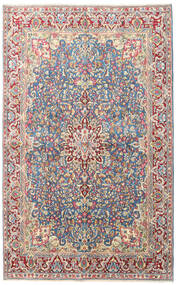 Kerman Dywan 150X240 Orientalny Tkany Ręcznie Jasnoszary/Beżowy (Wełna, Persja/Iran)