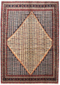 Hamadan Teppich  203X287 Echter Orientalischer Handgeknüpfter Dunkelbraun/Beige (Wolle, Persien/Iran)