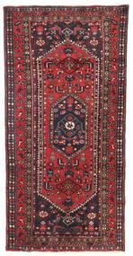 Zanjan Vloerkleed 93X190 Echt Oosters Handgeknoopt Donkergrijs/Donkerrood (Wol, Perzië/Iran)