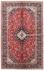 Keshan Vloerkleed 150X243 Echt Oosters Handgeknoopt Donkerrood/Roestkleur (Wol, Perzië/Iran)