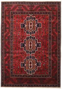 Shiraz Matto 208X298 Itämainen Käsinsolmittu Tummanpunainen/Musta (Villa, Persia/Iran)