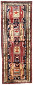 Ardebil Matta 114X307 Äkta Orientalisk Handknuten Hallmatta Mörkröd/Mörkgrå (Ull, Persien/Iran)