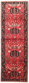 Saveh Rug 104X300 Authentic  Oriental Handknotted Hallway Runner  Dark Red/Rust Red (Wool, Persia/Iran)