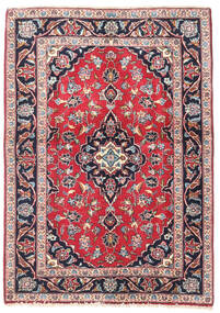 Keshan Rug 100X140 Authentic  Oriental Handknotted Light Pink/Black (Wool, Persia/Iran)