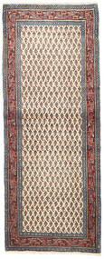 Sarough Matta 85X215 Äkta Orientalisk Handknuten Hallmatta Mörkröd/Ljusgrå (Ull, Persien/Iran)