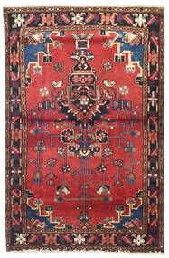 Nahavand Rug 105X160 Authentic  Oriental Handknotted Dark Red/Rust Red (Wool, Persia/Iran)