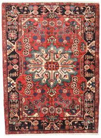 Nahawand Dywan 140X185 Orientalny Tkany Ręcznie Ciemnobrązowy/Rdzawy/Czerwony (Wełna, Persja/Iran)