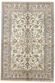 Keshan Rug 140X205 Authentic  Oriental Handknotted Beige/Light Grey (Wool, Persia/Iran)