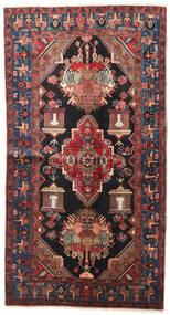 Nahavand Tapis 125X230 D'orient Fait Main Rouge Foncé/Noir (Laine, Perse/Iran)