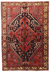 Nahavand Rug 150X220 Authentic Oriental Handknotted Dark Brown/Dark Red (Wool, Persia/Iran)