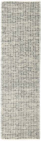 Big Drop - Black/Grey Mix Rug 80X290 Authentic  Modern Handwoven Hallway Runner  Light Grey/Beige/Dark Grey (Wool, India)