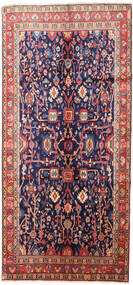 Jozan Rug 150X320 Authentic  Oriental Handknotted Hallway Runner  Dark Purple/Dark Red (Wool, Persia/Iran)
